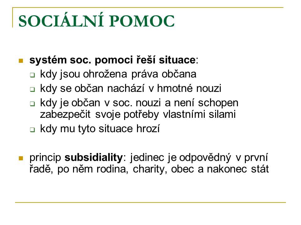 SOCIÁLNÍ POMOC / nástroje  nástroje sociální pomoci:  poradenství  preventivní součást (odstraňování příčin či nepříznivých podmínek, popř.