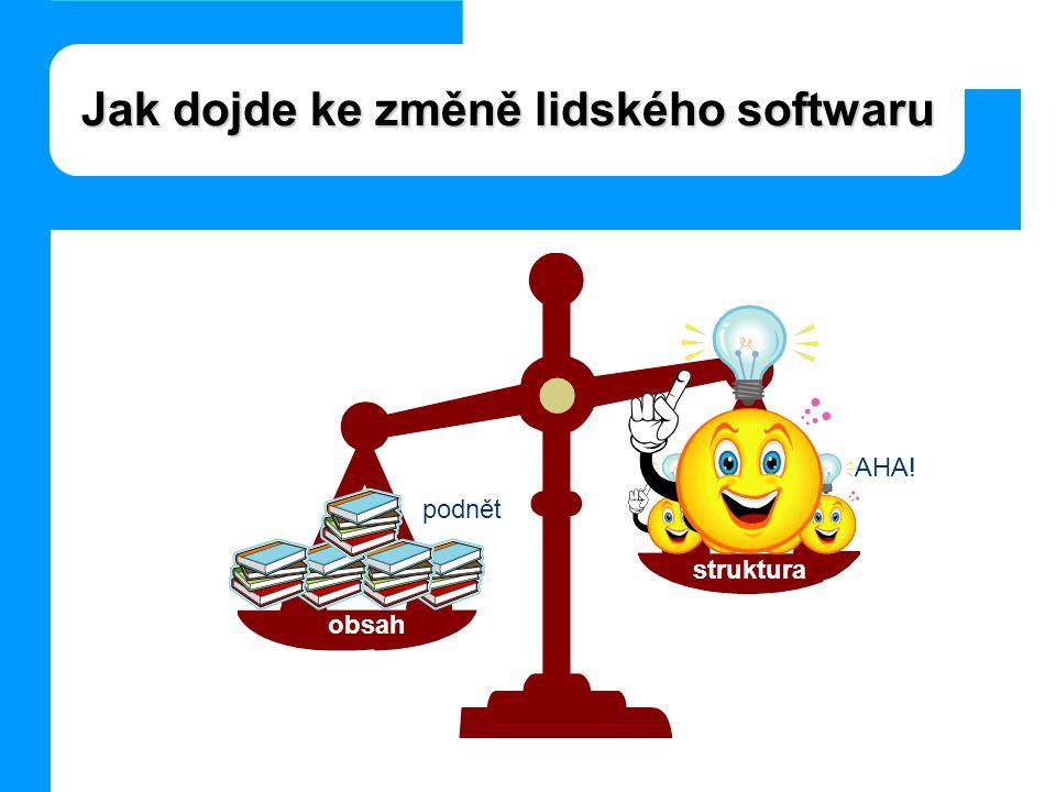 Jak dojde ke změně lidského softwaru obsah struktura podnět AHA!