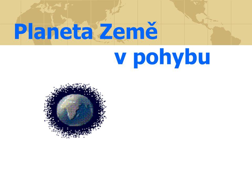 Pohyby Země 1.Otáčí se kolem své osy 2. Země obíhá kolem Slunce 3.