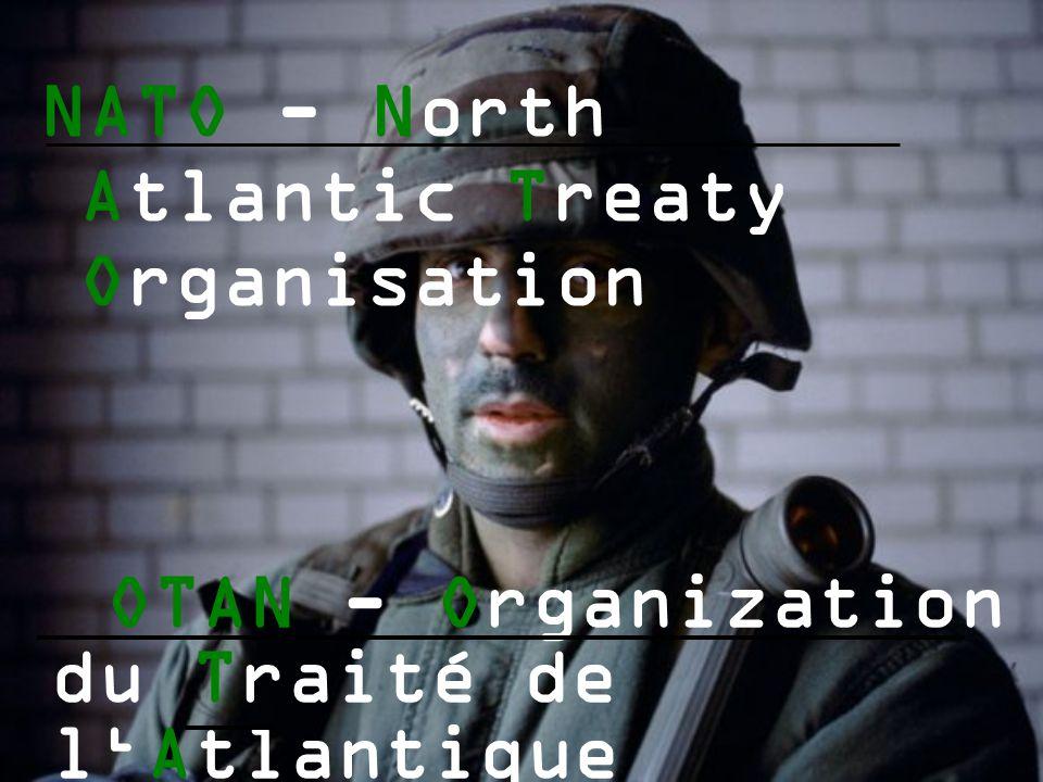 NATO - North Atlantic Treaty Organisation OTAN - Organization du Traité de l'Atlantique Nord Veronika Habánová, Simona Veithová