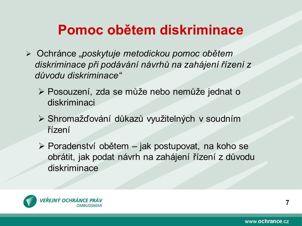 www.ochrance.cz 8 VOP a oblasti diskriminace (2011,2012)
