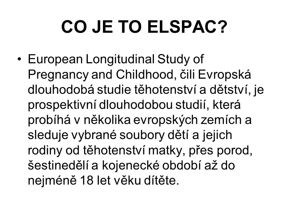 CO JE TO ELSPAC.