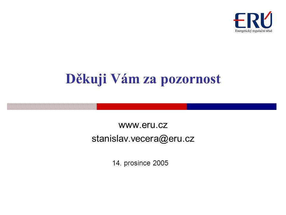 14. prosince 2005 Děkuji Vám za pozornost www.eru.cz stanislav.vecera@eru.cz