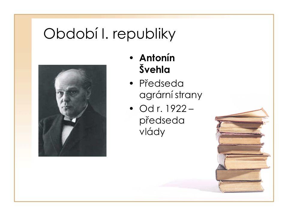 Období demokratického Československa • Václav Klaus •Zakladatel OF, ODS •1989 – MF •1990 – místopředse- da FV MF ČSFR