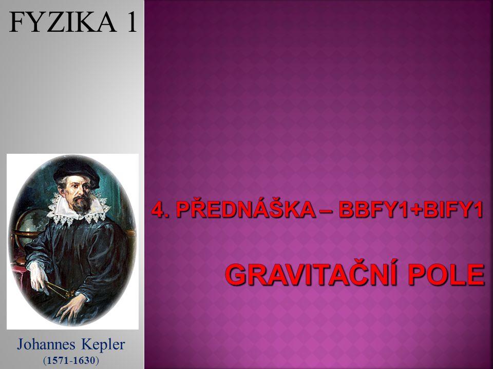 Johannes Kepler (1571-1630) FYZIKA 1