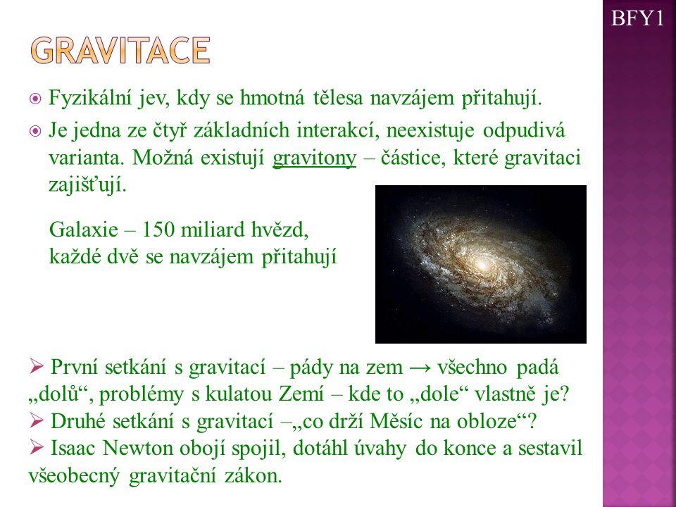  Každé dvě hmotné částice se navzájem přitahují opačnými stejně velkými gravitačními silami, jejichž velikost je přímo úměrná součinu jejich hmotností a nepřímo úměrná druhé mocnině jejich vzdálenosti.