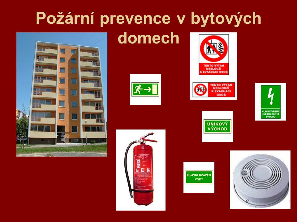 Požární prevence v bytových domech