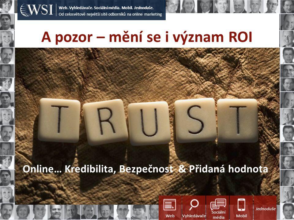 A pozor – mění se i význam ROI Od celosvětově největší sítě odborníků na online marketing Web.