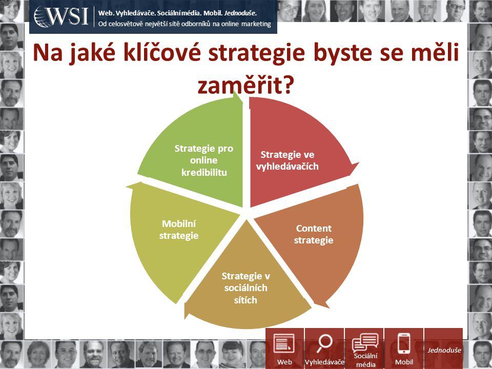 Na jaké klíčové strategie byste se měli zaměřit? Od celosvětově největší sítě odborníků na online marketing Web. Vyhledávače. Sociální média. Mobil. J