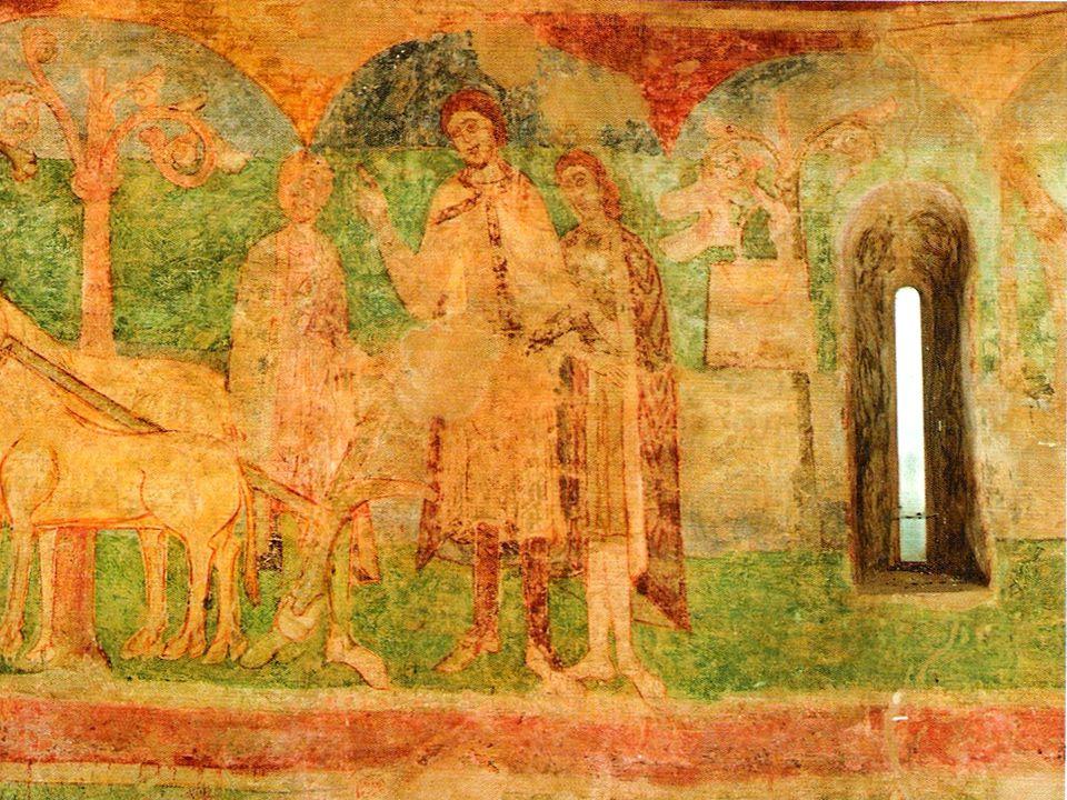 Od počátku křesťanství pokrývá stěny chrámů výzdoba v podobě mozaiky nebo fresky. Z počátku s dominujícím Kristem ve výjevu Posledního soudu, později