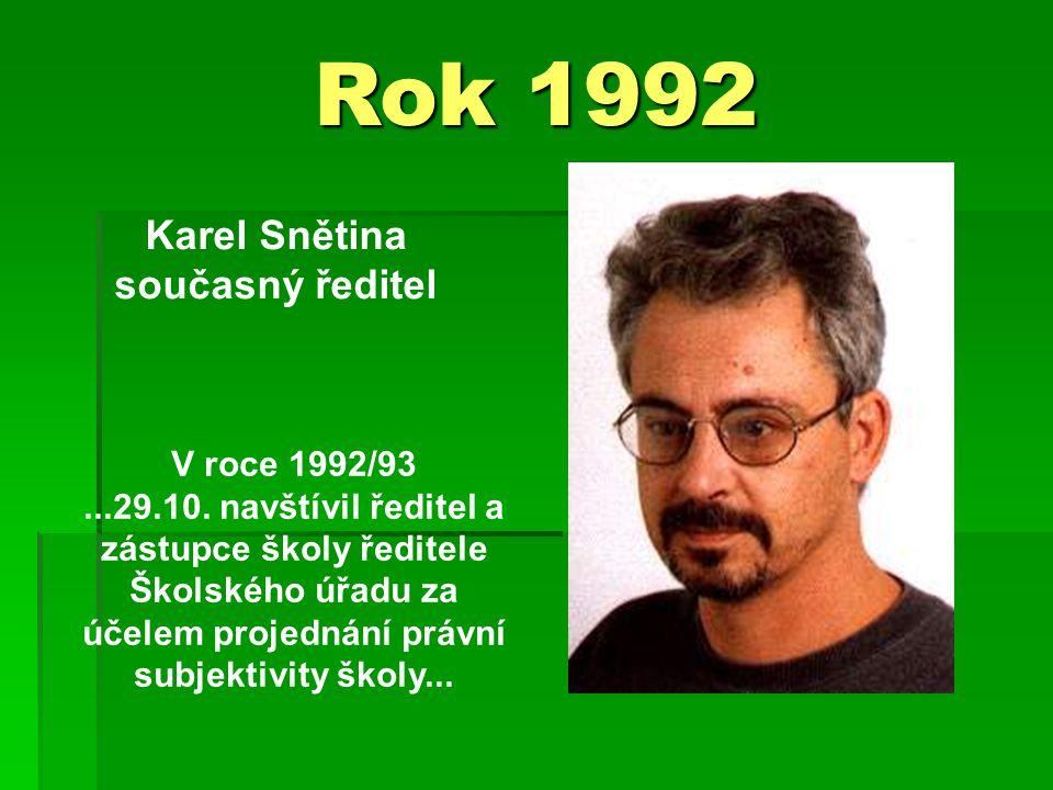 Rok 1992 Karel Snětina současný ředitel V roce 1992/93...29.10.