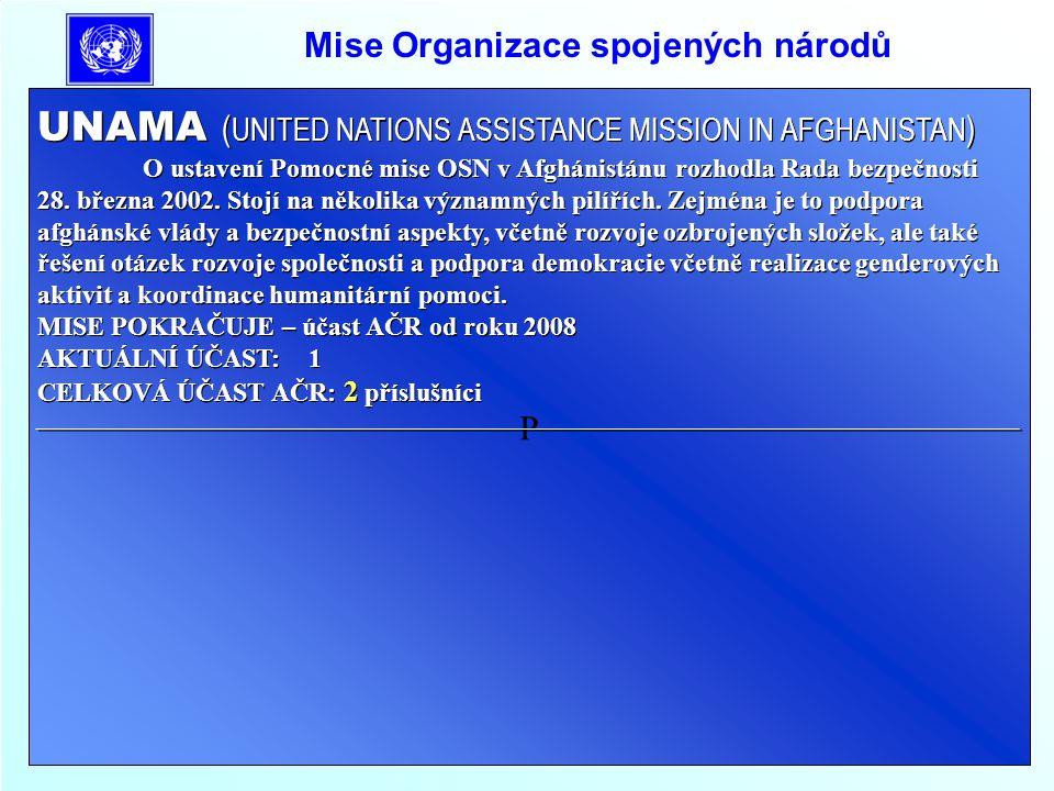 Mise Organizace pro bezpečnost a spolupráci v Evropě OBSE/ ALBÁNIE Od ledna 1999 do února 2001 zařazen jeden příslušník na pozici monitor.