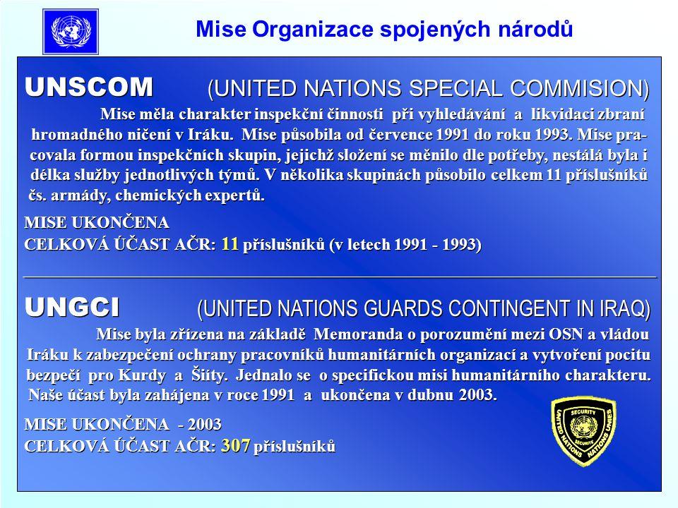 Mise Organizace spojených národů UNOMOZ (UNITED NATIONS OPERATION IN MOSAMBIQUE) Mise byla zřízena pro pomoc při přípravě voleb a kontrolu jejich průběhu v Mozambiku, na základě dohody o ukončení 14 leté občanské války v zemi.