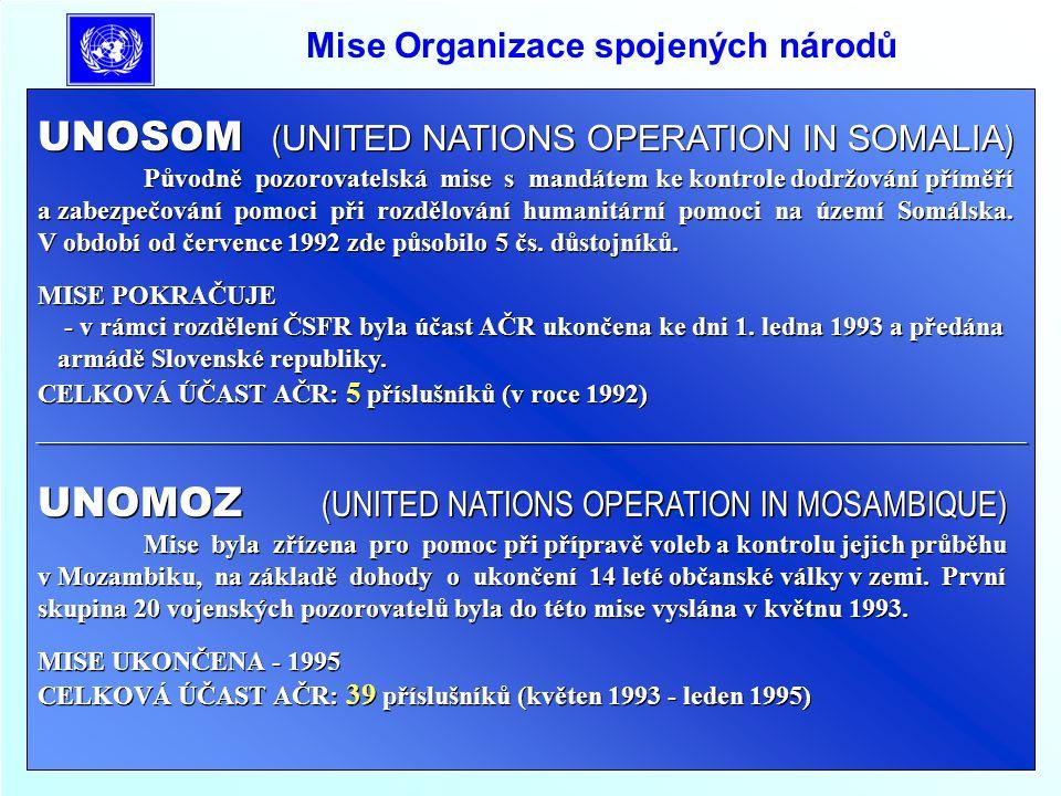Mise Organizace spojených národů UNAMSIL (UNITED NATIONS MISSION IN SIERRA LEONE) Pozorovatelská mise OSN UNAMSIL byla zřízena k dohlížení nad dodržová- ním příměří mezi znepřátelenými skupinami povstalců (RUF) a vládních vojsk v Sierra Leone.