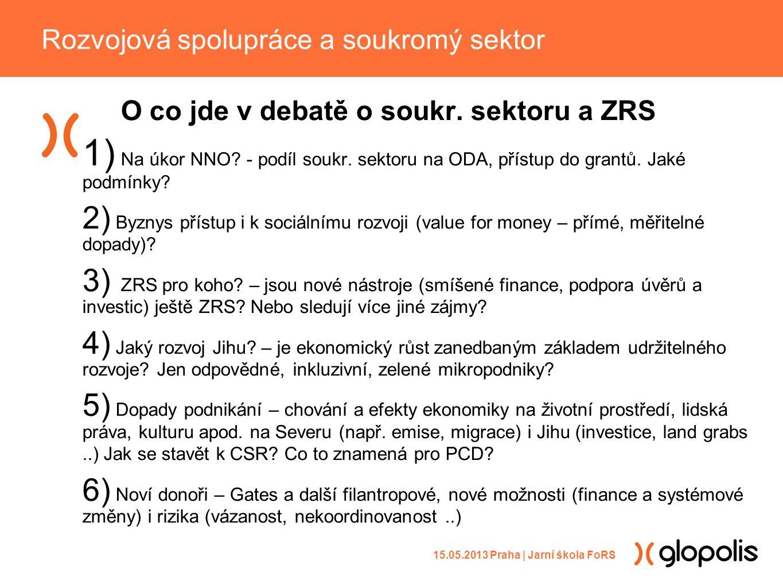 O co jde v debatě o soukr. sektoru a ZRS 1) Na úkor NNO.