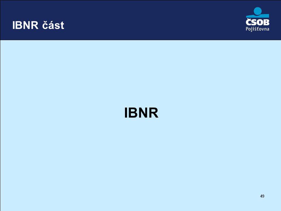 49 IBNR část IBNR