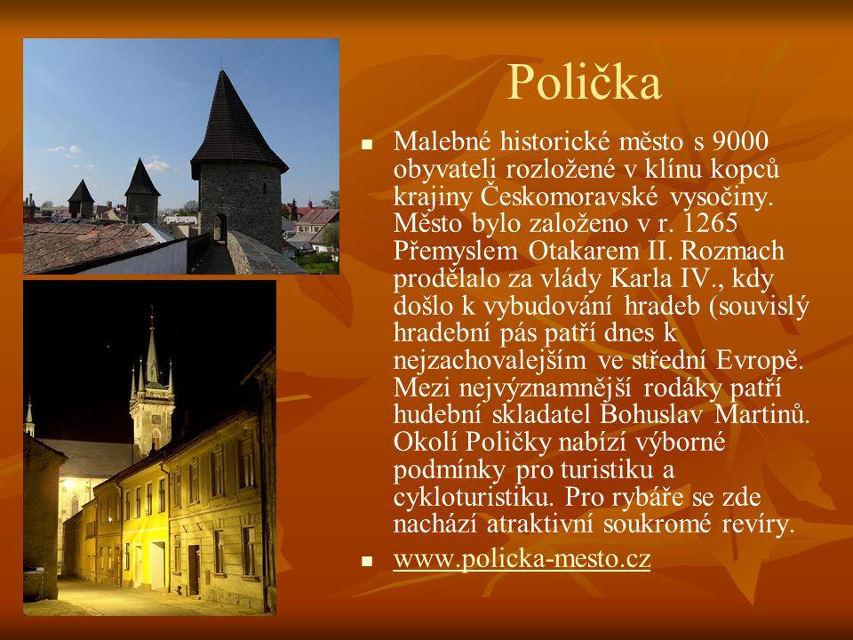 Svitavy   Město s 18000 obyvatel. Nejstarší zmínka je z roku 1256. Město patřilo olomouckým biskupům až do roku 1848. Ve městě se narodil a žil Oska