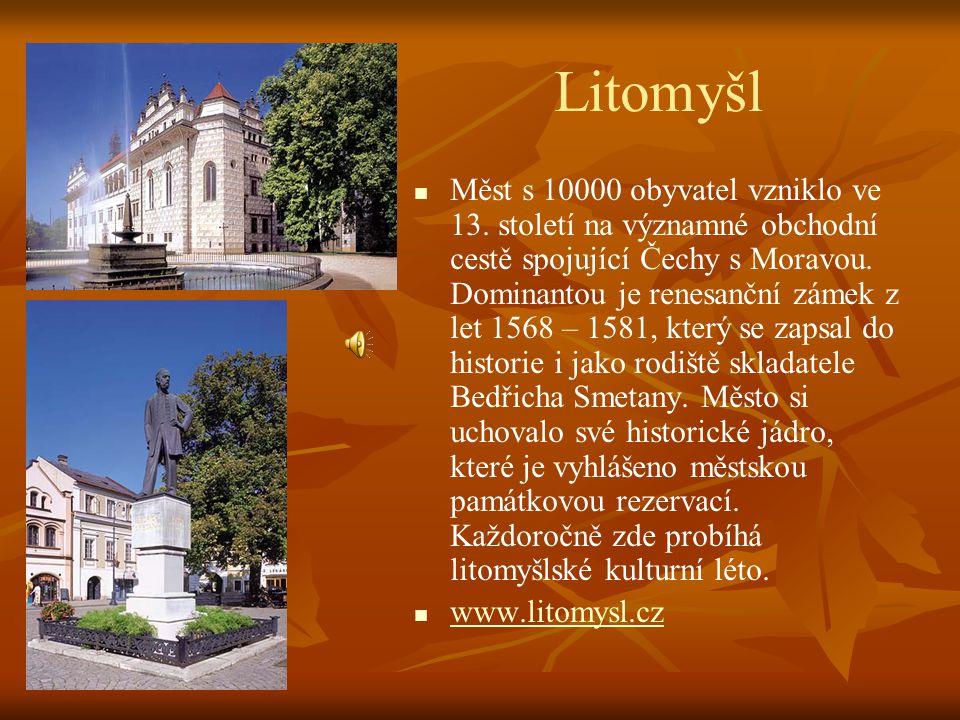 Moravská Třebová   Město se 13000 obyvateli je městskou památkovou rezervací. Bylo založeno v polovině 13. století. Po požárech v 16. století proběh