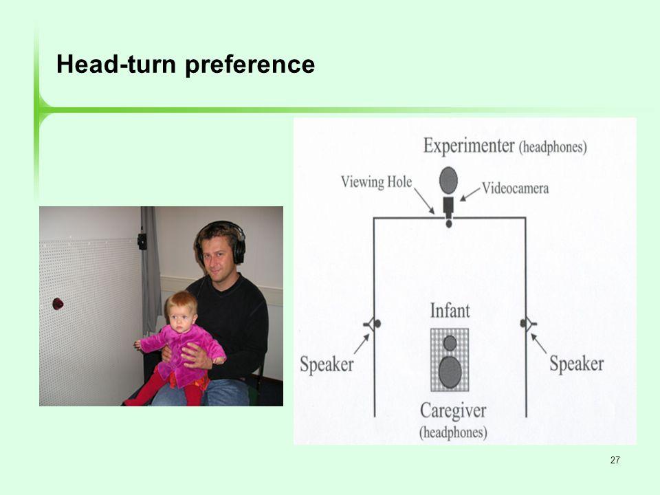 27 Head-turn preference