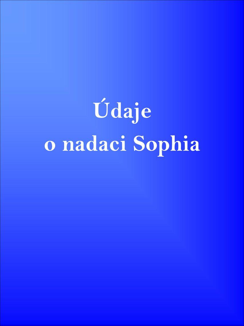 Údaje o nadaci Sophia
