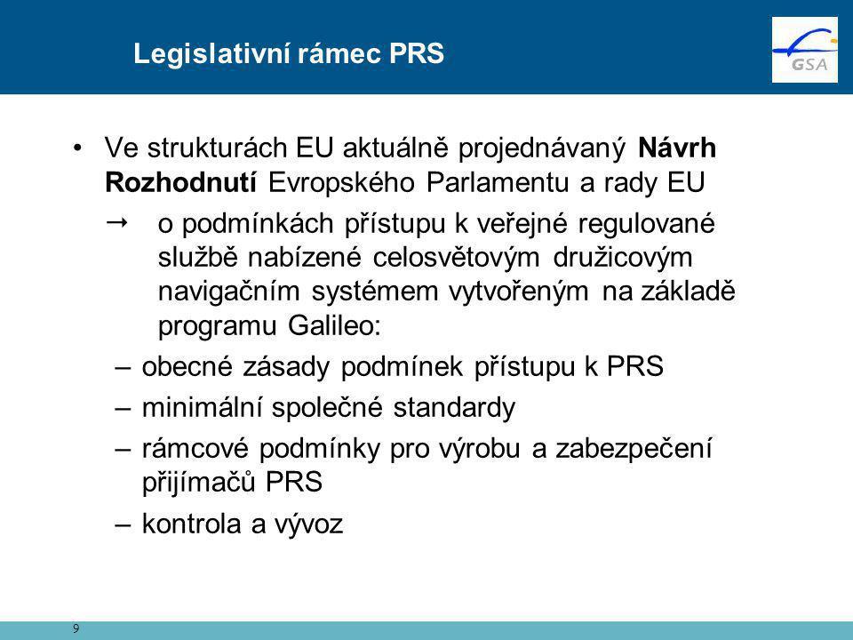 •Ve strukturách EU aktuálně projednávaný Návrh Rozhodnutí Evropského Parlamentu a rady EU  o podmínkách přístupu k veřejné regulované službě nabízené