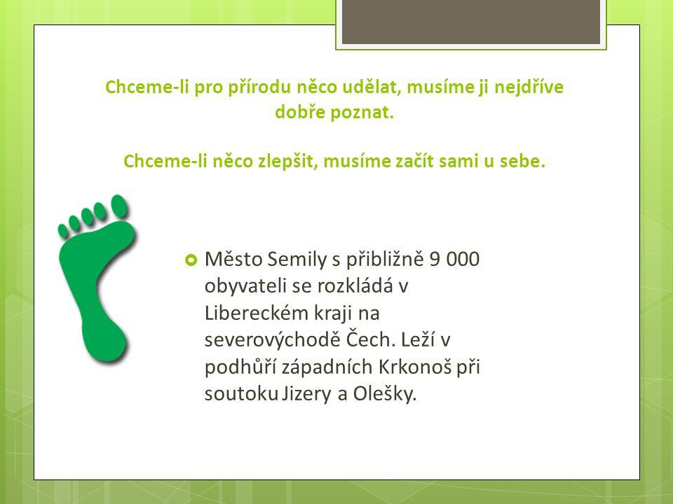 Město Semily se připojilo k řadě českých měst, které se rozhodla posoudit svoji udržitelnost prostřednictvím ekologické stopy.