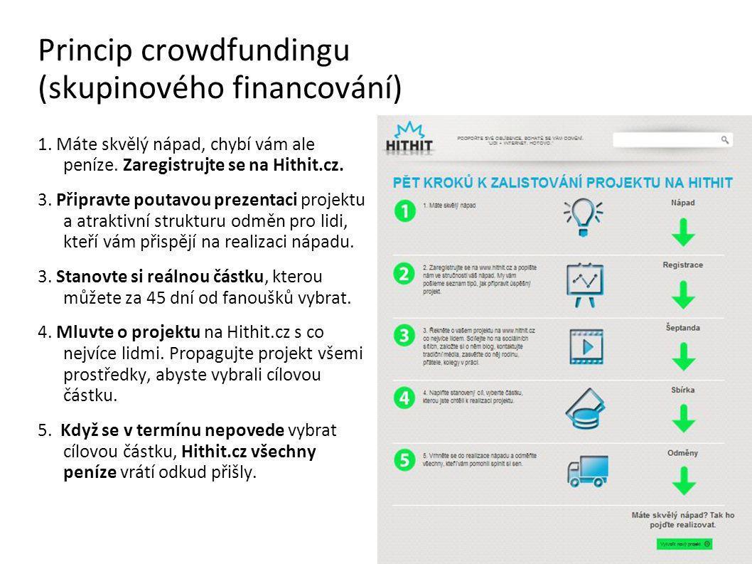 Princip crowdfundingu (skupinového financování) 1.