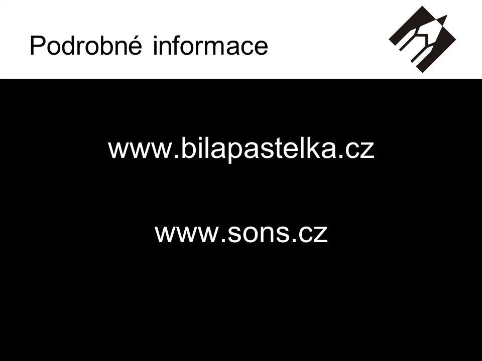 Podrobné informace www.bilapastelka.cz www.sons.cz