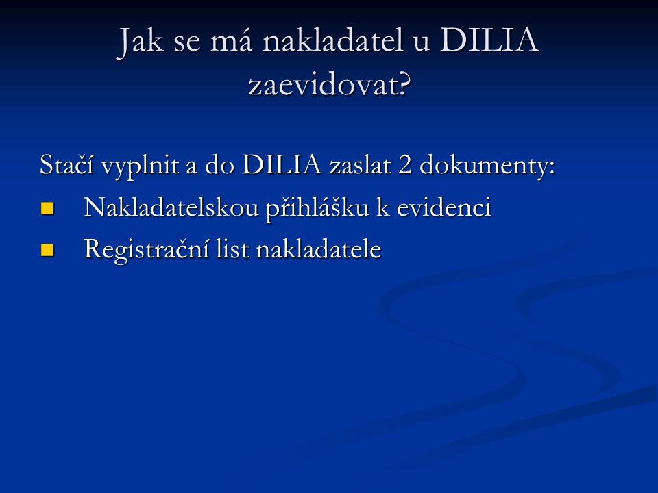 Jak se má nakladatel u DILIA zaevidovat? Stačí vyplnit a do DILIA zaslat 2 dokumenty:  Nakladatelskou přihlášku k evidenci  Registrační list naklada