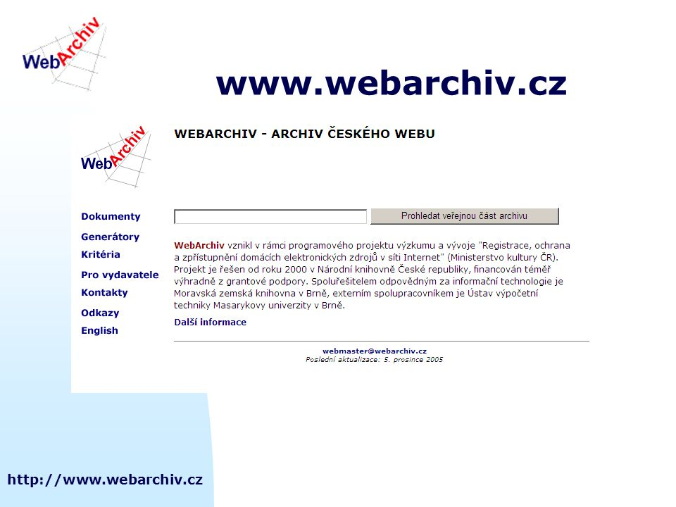 http://www.webarchiv.cz www.webarchiv.cz