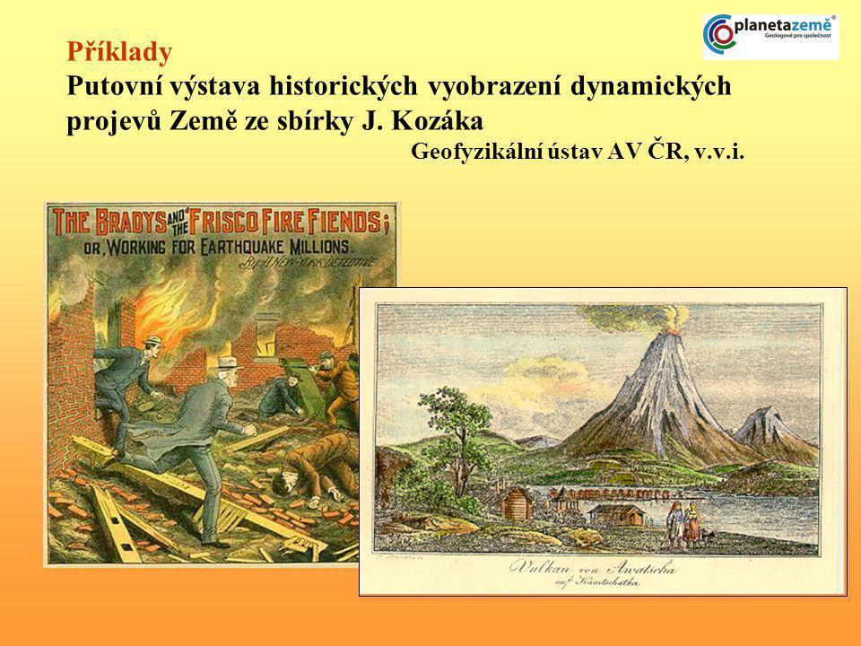 Příklady Putovní výstava historických vyobrazení dynamických projevů Země ze sbírky J. Kozáka Geofyzikální ústav AV ČR, v.v.i.