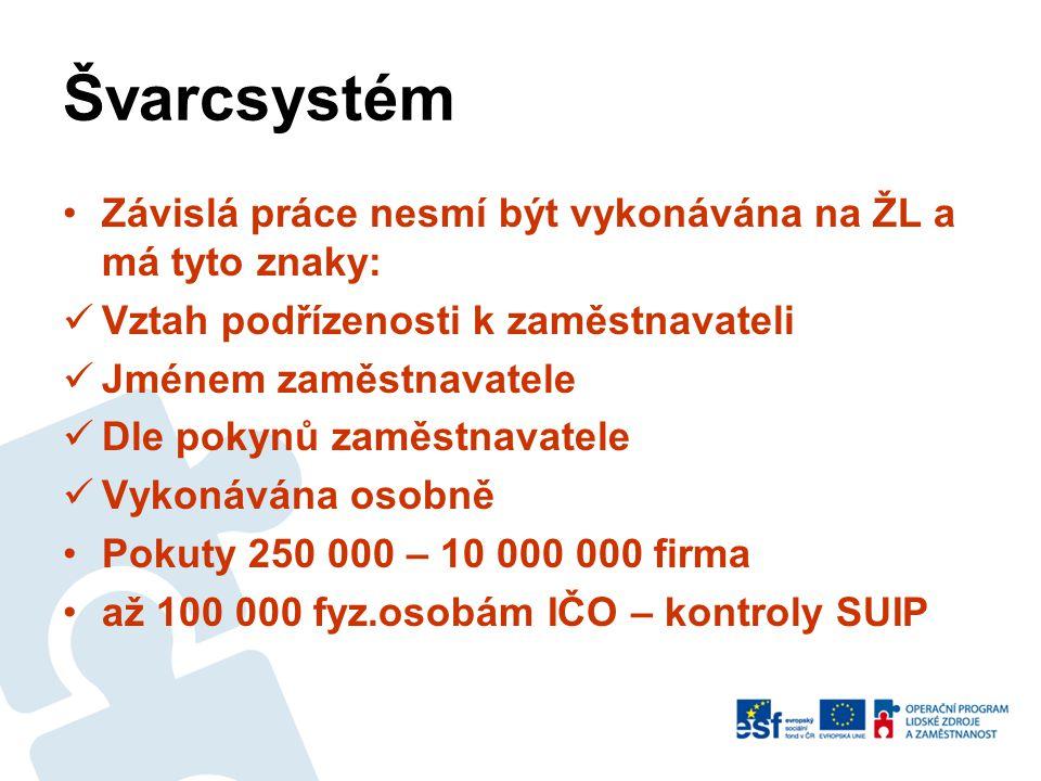 Agenturní zaměstnávání •Od 1.1.2012 nemůže agentura propůjčovat své zaměstnance – cizince ze třetích zemí na práci jiným zaměstnavatelům •V praxi se to obchází… •Družstvo není agentura práce.