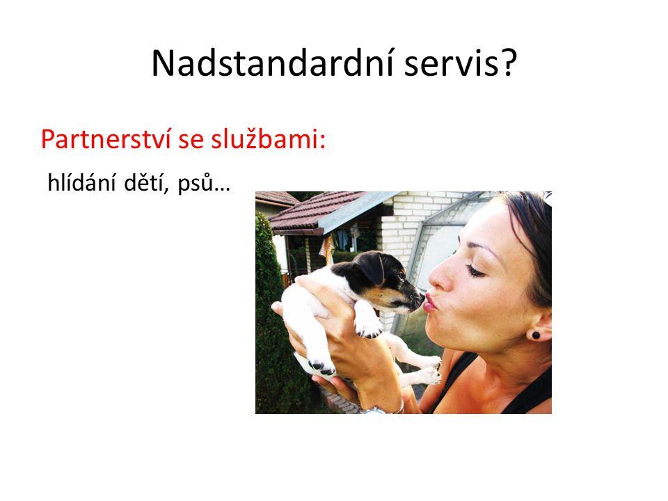 Nadstandardní servis? Partnerství se službami: hlídání dětí, psů…