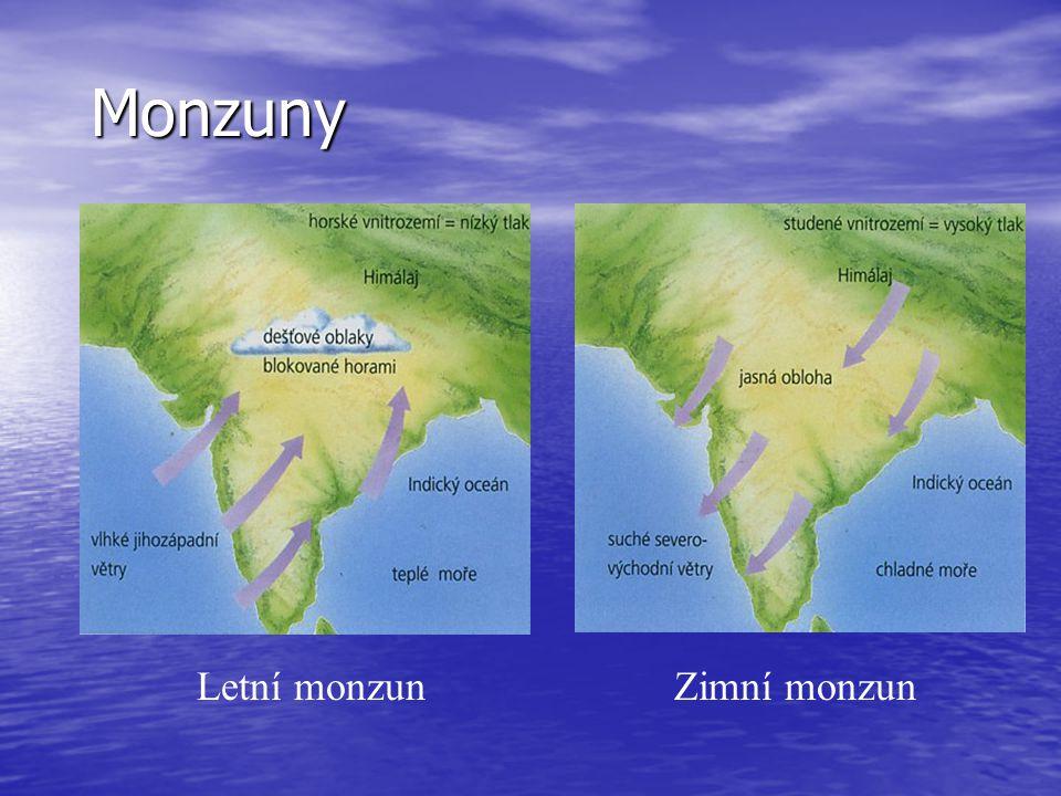 Monzuny Letní monzunZimní monzun