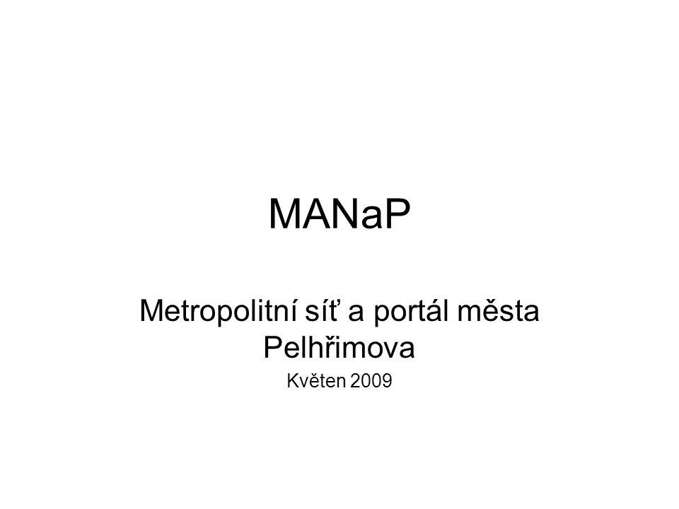 MANaP Metropolitní síť a portál města Pelhřimova Květen 2009