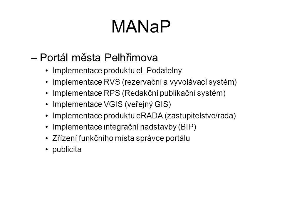 MANaP –Portál města Pelhřimova •Implementace produktu el.
