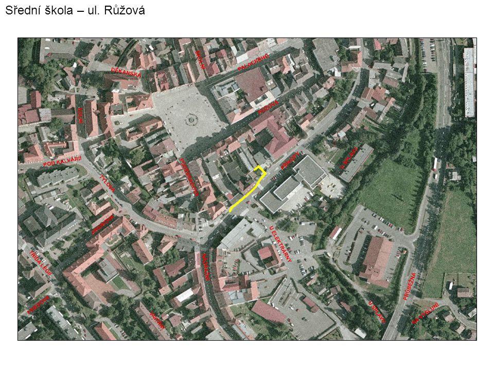 Sřední škola – ul. Růžová