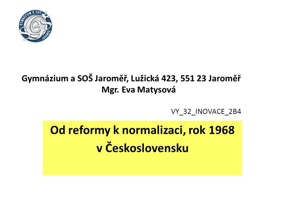 Gymnázium a SOŠ Jaroměř, Lužická 423, 551 23 Jaroměř Mgr.