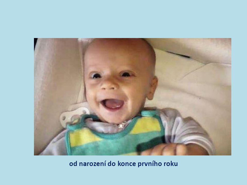 socializace kojence • důležitý je pravidelný režim, doteky a hlazení, řečové interakce, kladného citového vztahu • vede k vytvoření pocitu základní důvěry – matka dodává dítěti jistotu, že svět je v podstatě dobrý přes všechny bolesti a intenzivně prožívané neukojení potřeb;
