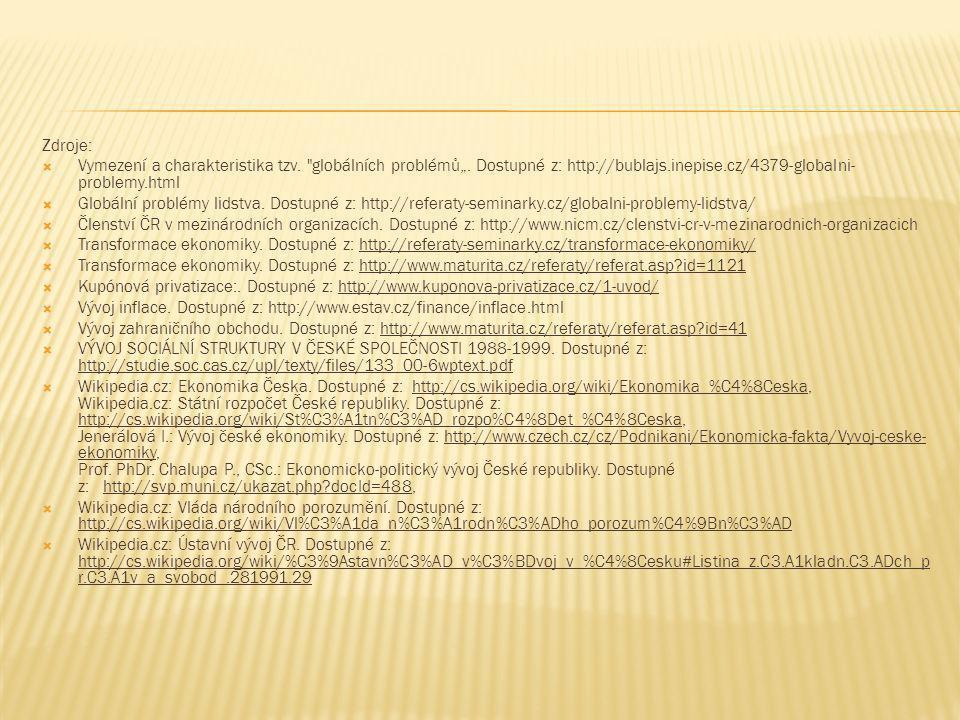 Zdroje:  Vymezení a charakteristika tzv.