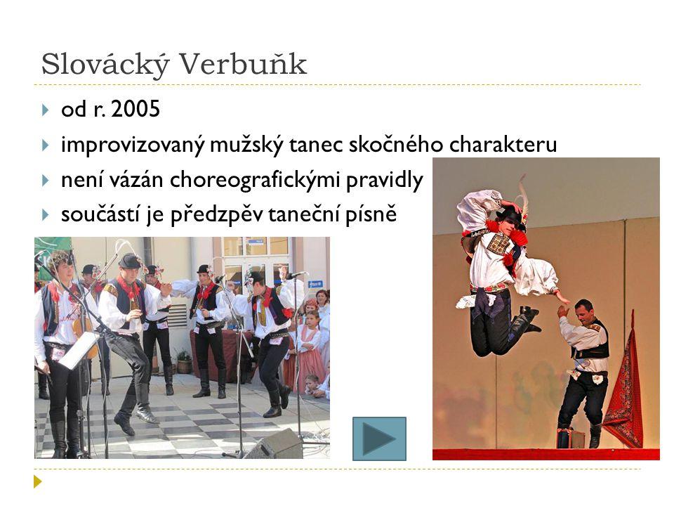 Slovácký Verbuňk  od r.