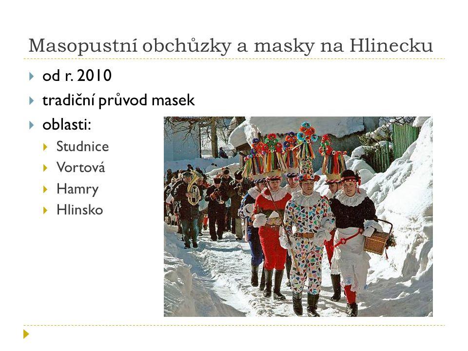 Masopustní obchůzky a masky na Hlinecku  od r.