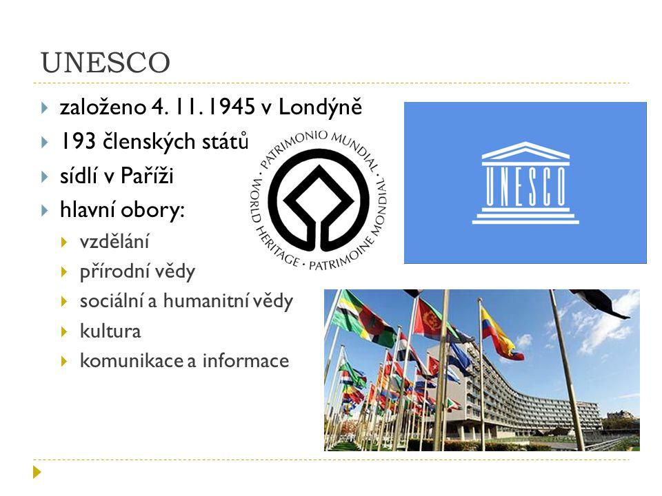 UNESCO  založeno 4.11.