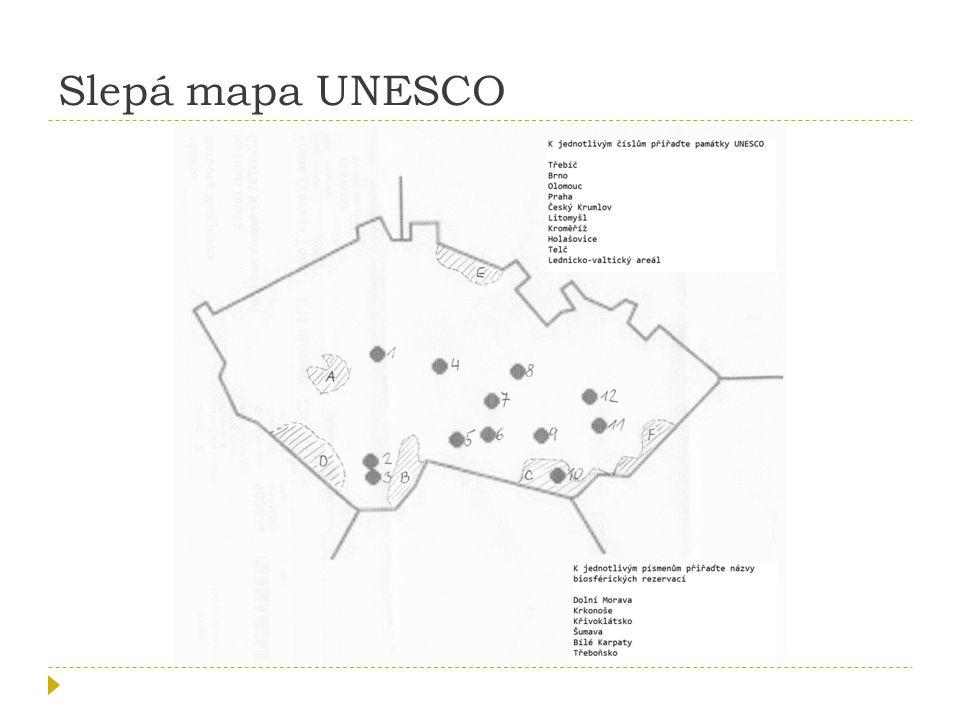 Slepá mapa UNESCO