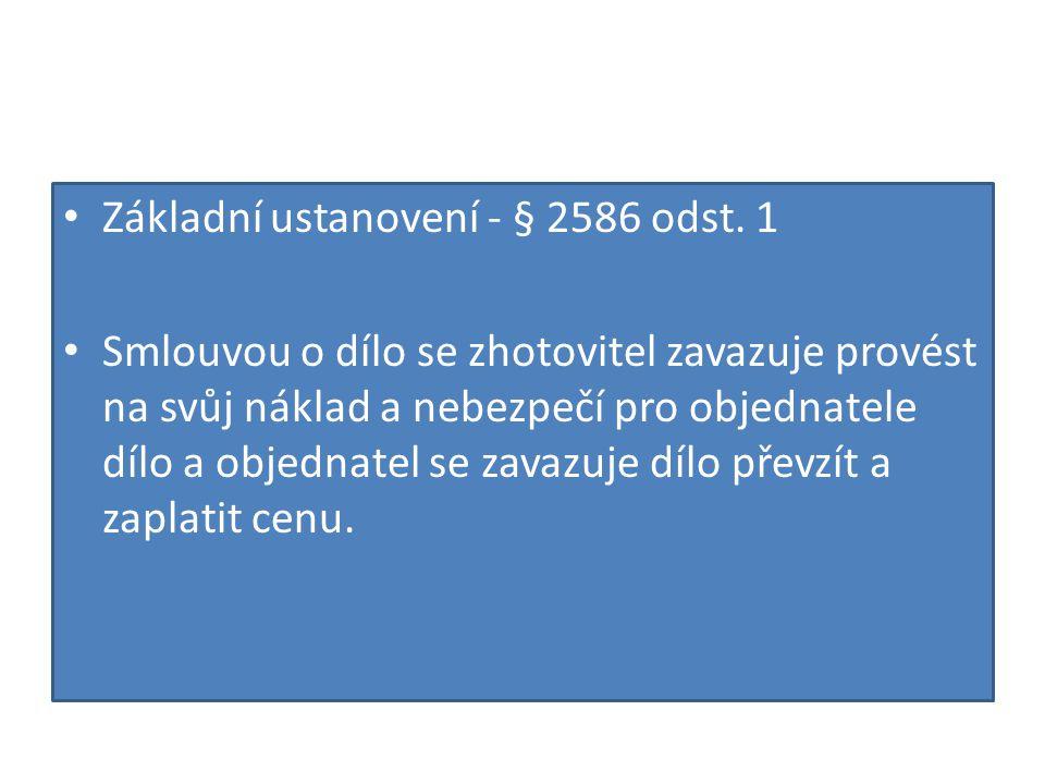 • Základní ustanovení - § 2586 odst.