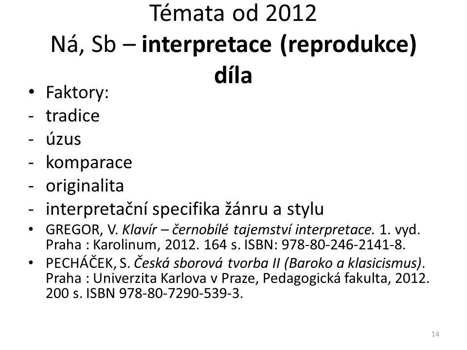 • Faktory: -tradice -úzus -komparace -originalita -interpretační specifika žánru a stylu • GREGOR, V.