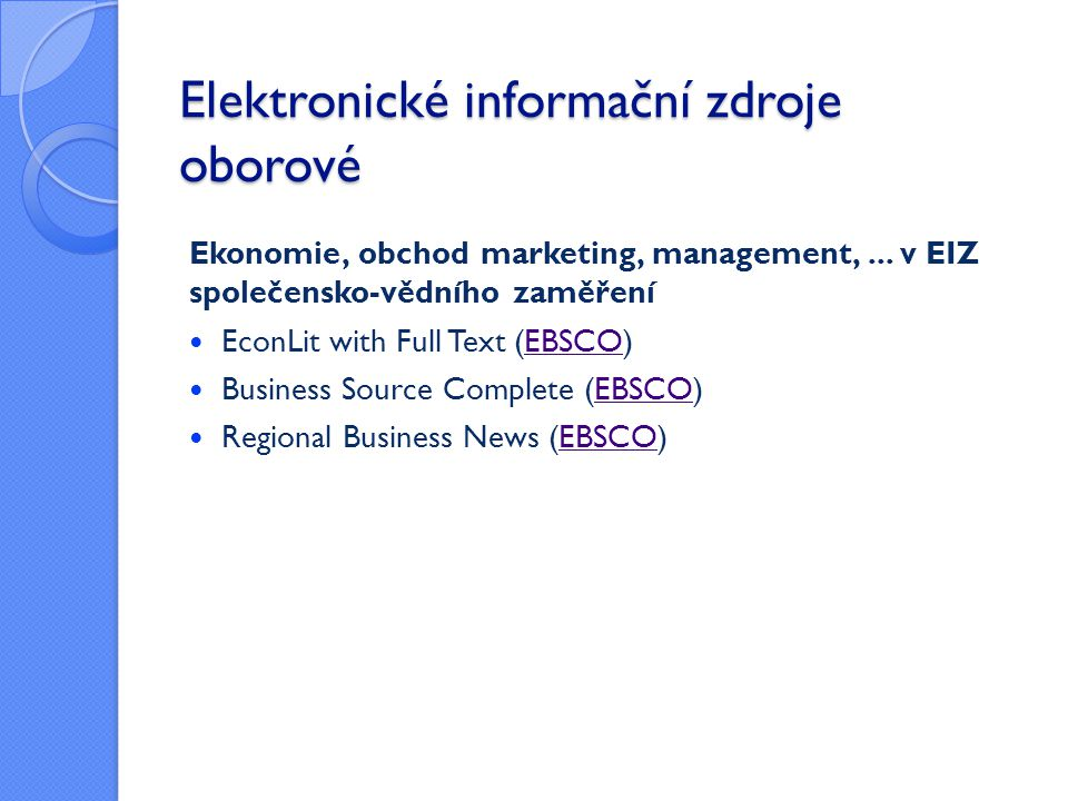 Ebsco Discovery Service (EDS)