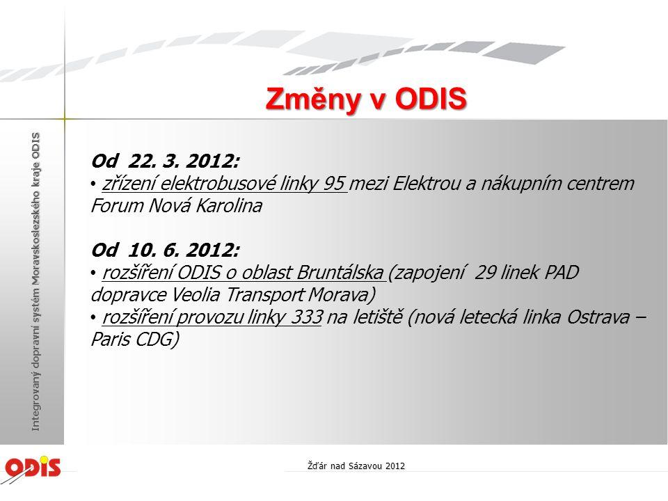 . Standardizace odbavovacích zařízení Žďár nad Sázavou 2012 Integrovaný dopravní systém Moravskoslezského kraje ODIS