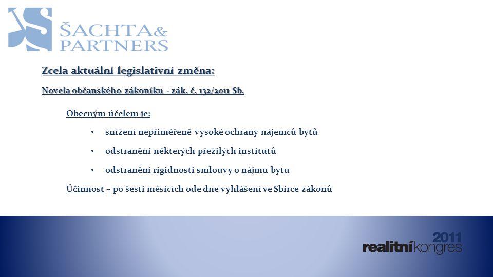 Zcela aktuální legislativní změna: Novela občanského zákoníku - zák.