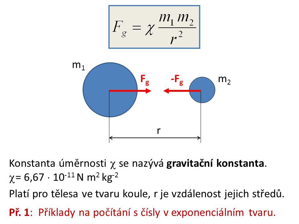 Konstanta úměrnosti  se nazývá gravitační konstanta.
